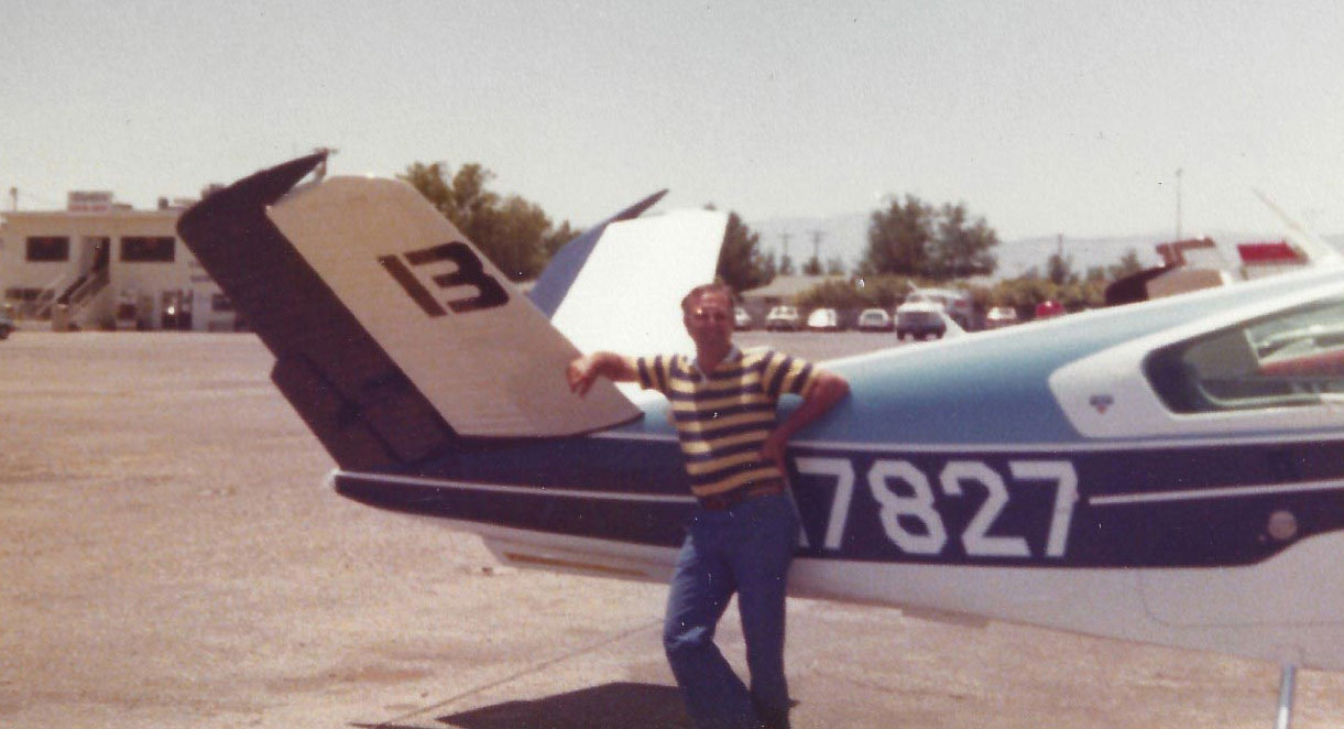 Bob with his V-tail Bonanza